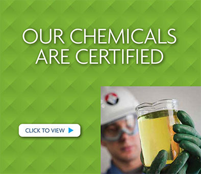 Our Chemicals are Certified
